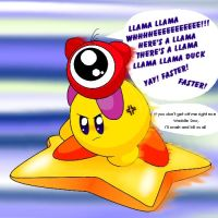 Waddle Doo on Kirby by littlemisskirby