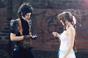 I have 23 tiny wishes - Aerith and Zack by xSan-chi