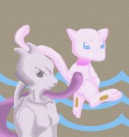 Mew and Mewtwo by bccomics