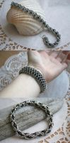 Chainmail bracelets, March 2014 by ihni