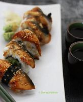 Homemade Unagi Avocado Sushi II by theresahelmer