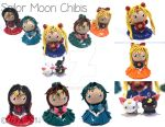 Sailor Moon Chibis by xRcks