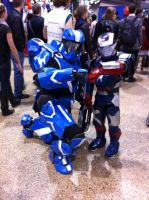spartan hanging out with the little iron boy haha by phoenix-101