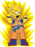 Super Saiyan Homer Simpson by tonatello
