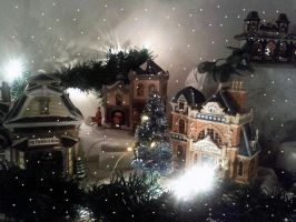 Xmas village 3 by M-J-Gagne