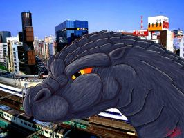 GODZILLA in the city by jacc1990