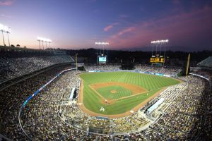 Dodger's Stadium at Dusk by hegemonia