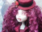 monster high custom repaint Lilith the vampire by Rach-Hells-Dollhaus
