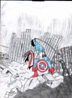 Captain America at Ground Zero by freakin-socrates
