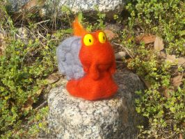 Magcargo Needle Felted Plush