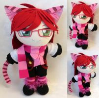 Mini Plushie Cheshire Cat Grell by LadyoftheSeireitei