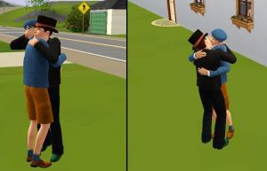 Sims 3 - Layton x Legal Luke by kenabe