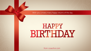 Birthday Greeting Cards PSD - cssauthor.com by cssauthor