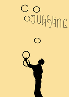 Circus Ambigrams 8: Juggling by Henry-Crun