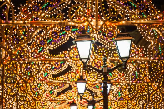Christmas lights in Moscow by unicornamira