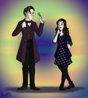 Eleven And Clara by cardinalbiggles