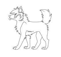 free funny canine lineart by CaptainDashund