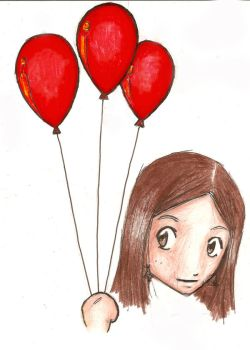Stella and her red balloons by Agatha-greenapple