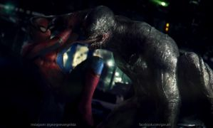 Venom Vs Spiderman by vshen