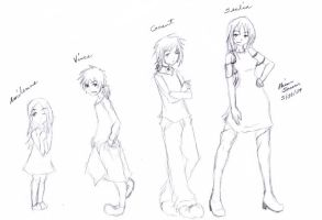 Amilenne, Vince, Grant, Sealia by The-Child-of-Heart
