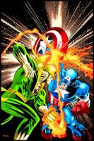Captain America vs Iron Fist by mrfuzzynutz
