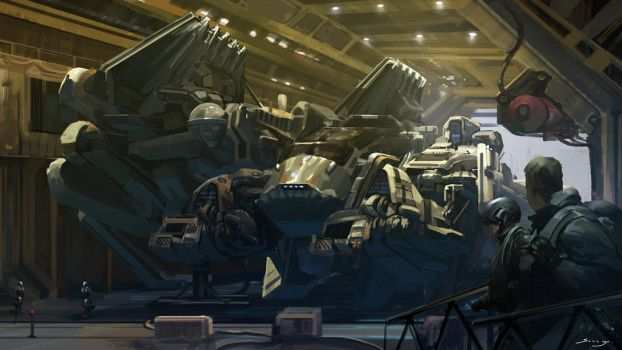 Destroyer Hangar by Ron-faure