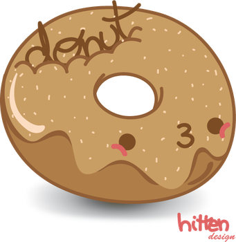 Kawaii Donut png by HittenDesign