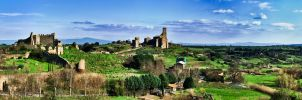 Panorama of Tuscania, detail by Tiris76