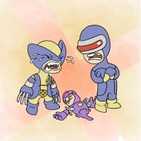 Wolverine vs Cyclops by mapacheanepicstory