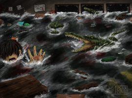 Flood fright by 13OukaMocha13