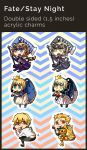 Fate Stay Night Keychains by Tthal