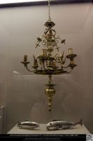 Antique Elaborate Gold Chandelier by DamselStock