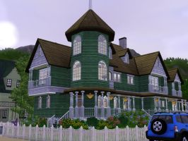 Sims 3 Large Victorian home by RamboRocky
