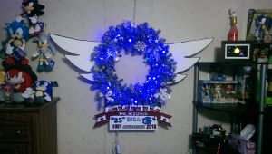 Sonic The Hedgehog 25th Anniversary Holiday Wreath by shadowbane2009