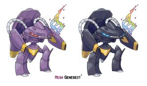 Mega Genesect (Contest Entry) by LeafyHeart