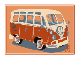 VW Bus study by Chirko