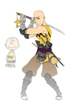 Charlie Brown Samurai by jscardona