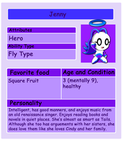 Chao Card: Jenny by HeroineMarielys