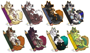Pixel Pencil Pups - Recolor Examples by scrappster
