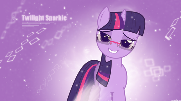 Twilight - With glasses and lipbite - Wallpaper by P3r0