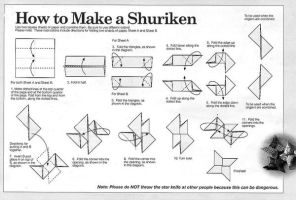 Origami Shuriken Tutorial by Nagato96