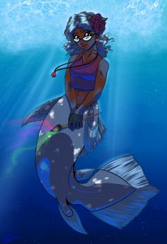 Coelacanth Painter by digitallyfanged