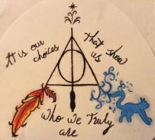 Harry Potter inspired tattoo (design) - in colour by mad-riding-hood