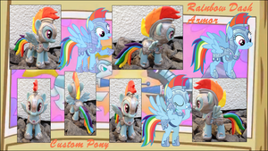 My little Pony FIM Rainbow Dash Armor Custom by Asukatze