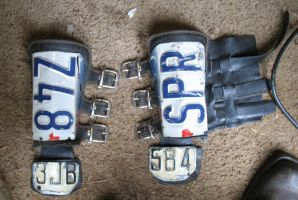 license plate bracers WIP 3 by emptysamurai