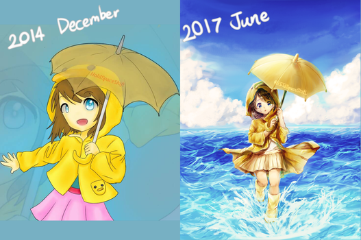 Never give up [Improvement in 3 years] by HoldSpaceShift