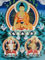 Buddha- Traditional Thangka Art (Nepalese) by nicko025