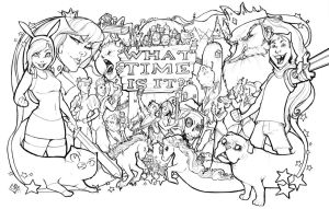 Adventure Time Epicness lineart by ComfortLove