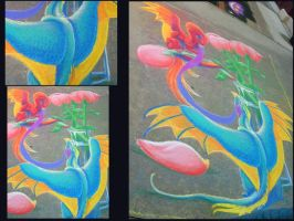 Dragons on the Sidewalk by bberry06