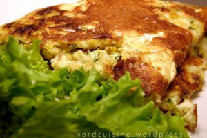Zucchini and Cheese Packed Omelet by oskila